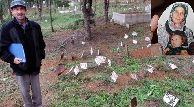Depremde kaybetti mezarını buldu