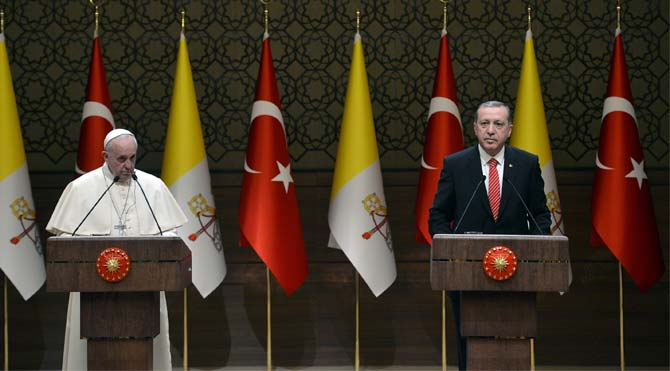 Ecumenismo global: Papa e presidente Erdogan falam de diálogo religioso e islamofobia