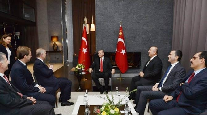Erdoğan, Venizelos ve Andrew ile görüştü