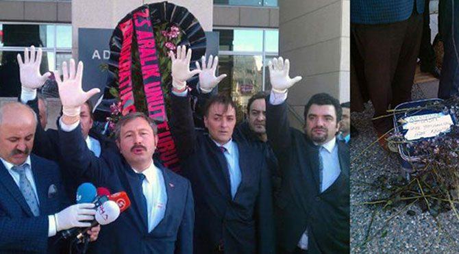 Adliye önünde valizli 25 Aralık eylemi