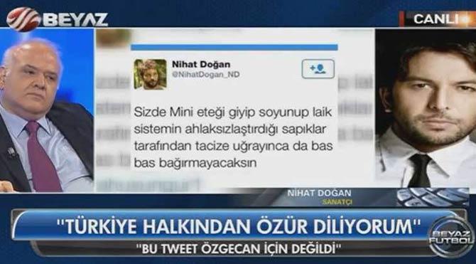 Nihat Doğan attığı tweeti savunmaya çalıştı ama...