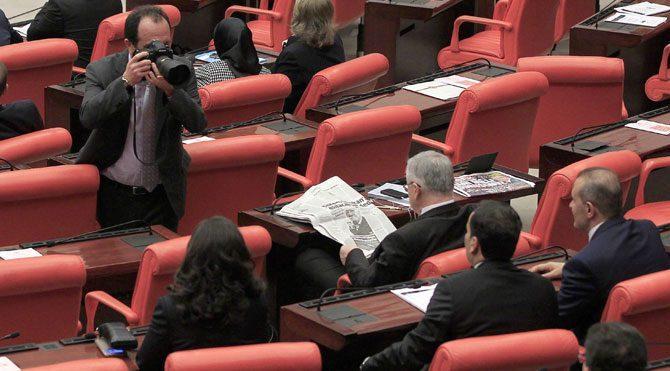 Meclis'te veda pozları