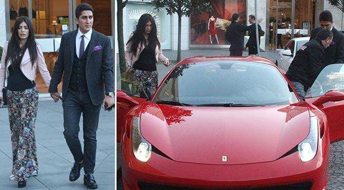 Doğmamış bebeğin Ferrari keyfi