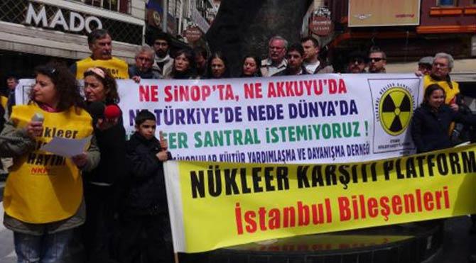 Nükleer santralleri protesto ettiler