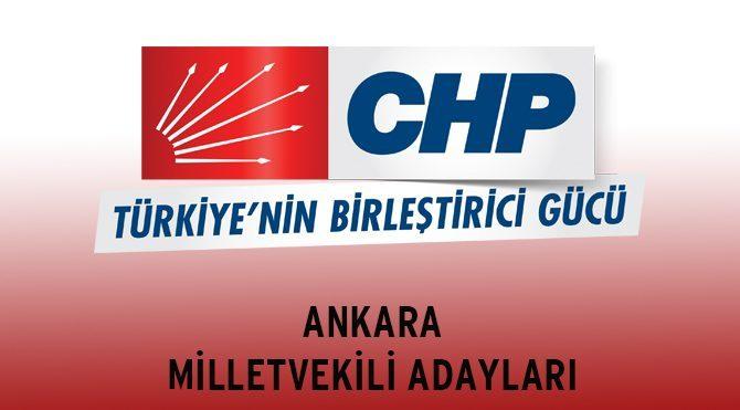 CHP Ankara Milletvekili Adayları - Genel Seçim 2015