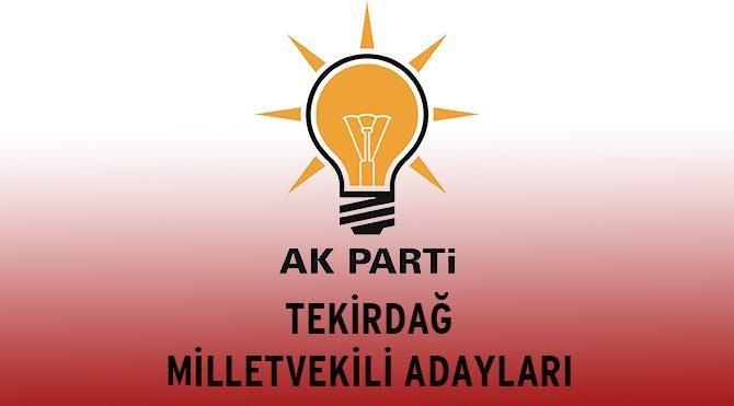 AKP Tekirdağ Milletvekili Adayları - Genel Seçim 2015