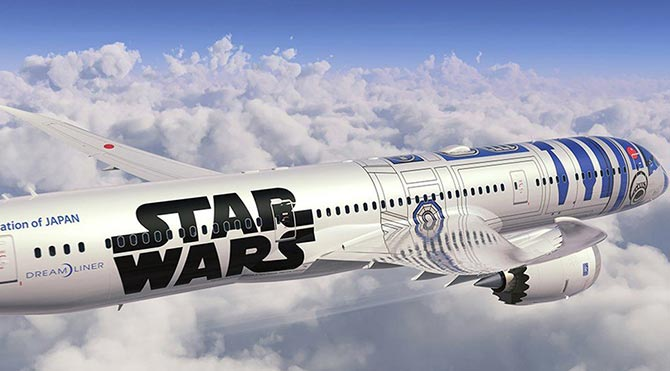Star Wars logolu Japon uçakları