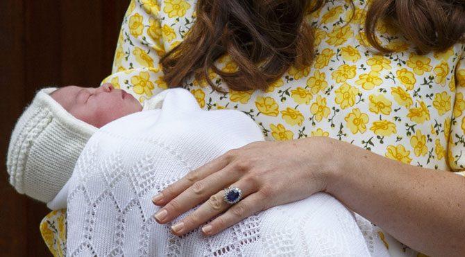 Kraliyet bebeği görüntülendi