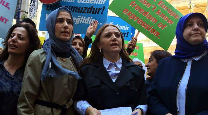 Sümeyye Erdoğan'dan Belçika protestosu
