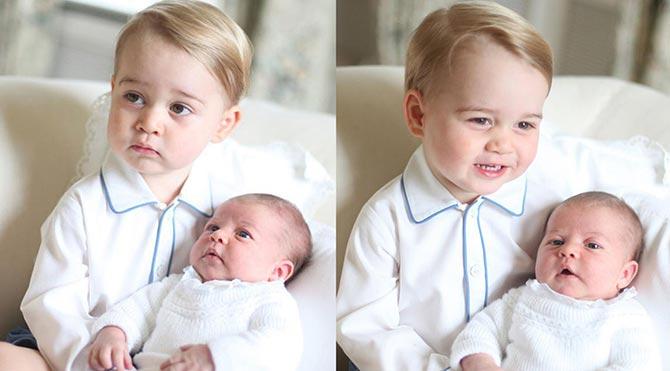Prens George, kardeşini dünyaya tanıttı