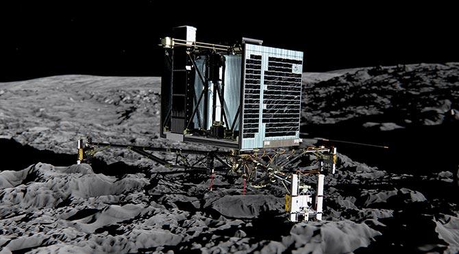 Uzay modülü Philae 'uyandı'