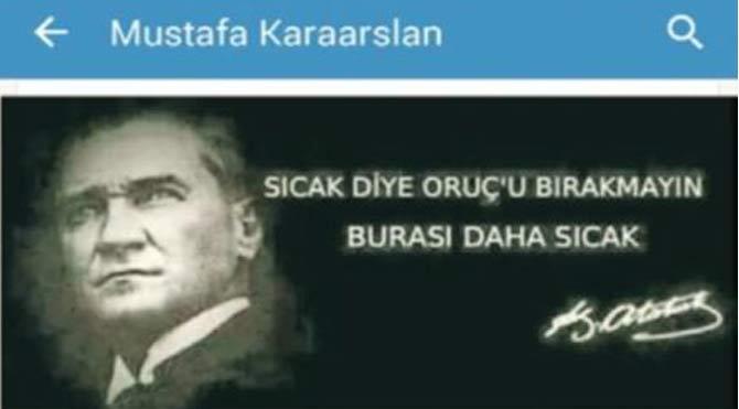 Müdürden 'Atatürk'lü skandal Ramazan paylaşımı