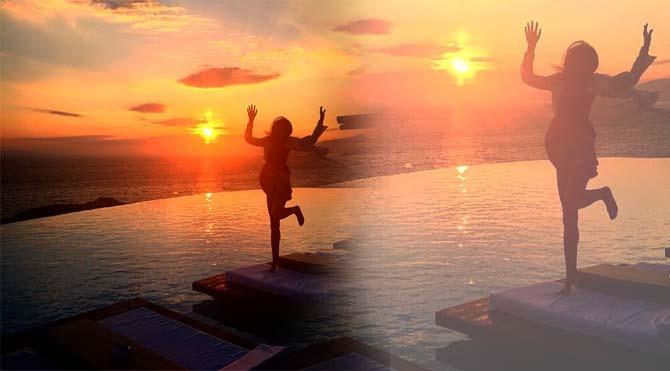 Eda Taşpınar'ın mutluluk dansı
