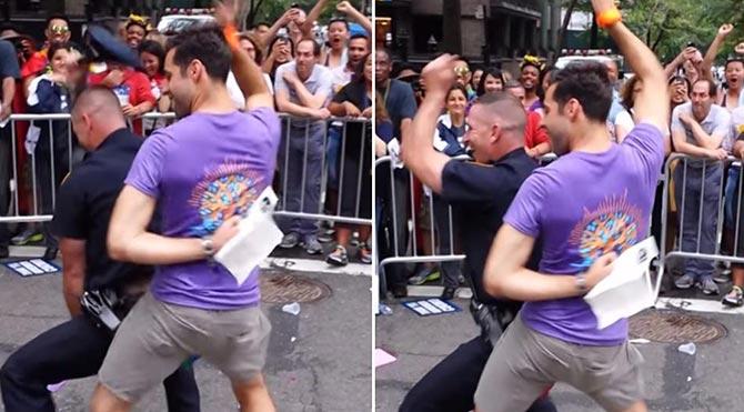 New York polisi onur yürüyüşünde gönlünce eğlendi