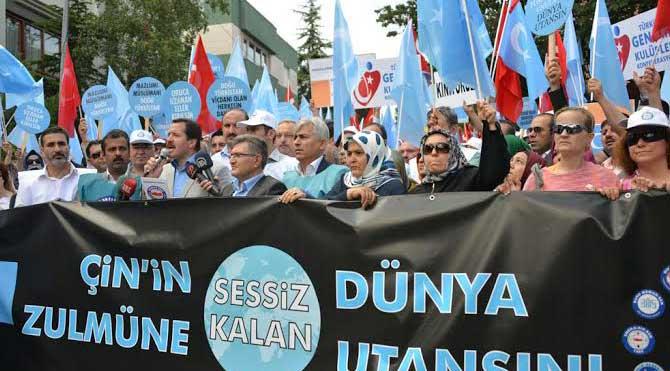 Ankara'da Çin protestosu