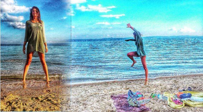 Berrak'ın hareketli plaj fotoğrafları