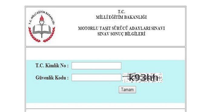 MEB, 27 Haziran 2015 Ehliyet sınavı sonuçlarını açıkladı!