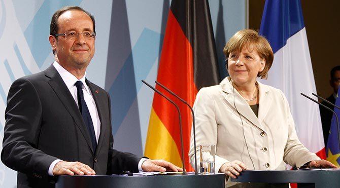 Angela Merkel ile François Hollande görüşmesi sona erdi