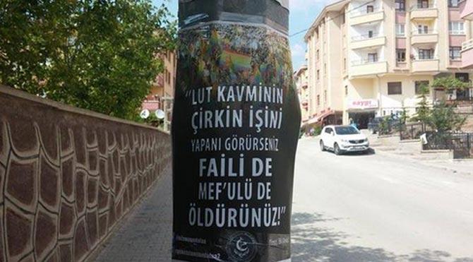 Ankara'da eşcinsellere yönelik tehdit afişleri!