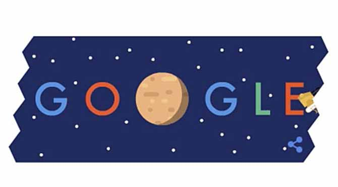 Plüton Google doodle oldu!