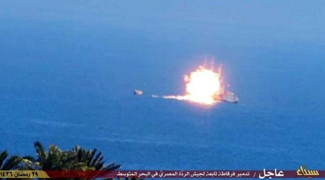 Mısır'ın savaş gemisini IŞİD vurmuş