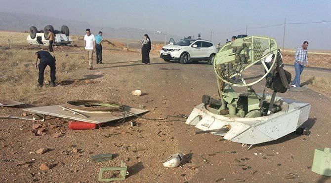 Polis panzeri kaza yaptı: 2 yaralı