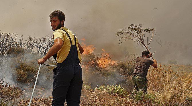 Orman yangınında 1 kişi öldü