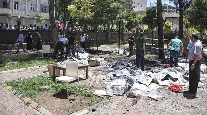 Şanlıurfa'nın Suruç ilçesindeki patlama dünya basınında