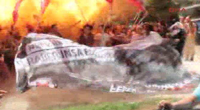 Suruç'taki patlama anı böyle görüntülendi