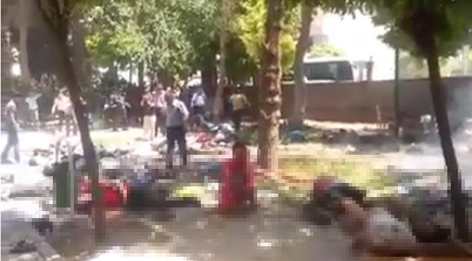İşte Suruç'taki saldırının görüntüleri