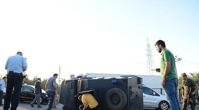 Zırhlı araç devrildi: 6 polis yaralı!