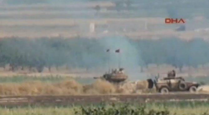 Sınırda çatışmadan ilk görüntüler