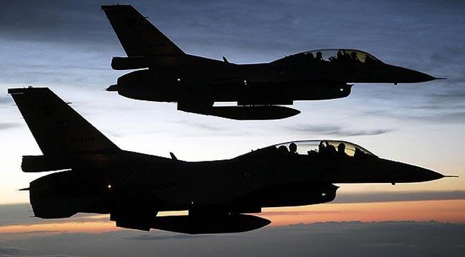 F-16'lardan sınır ötesi operasyon!