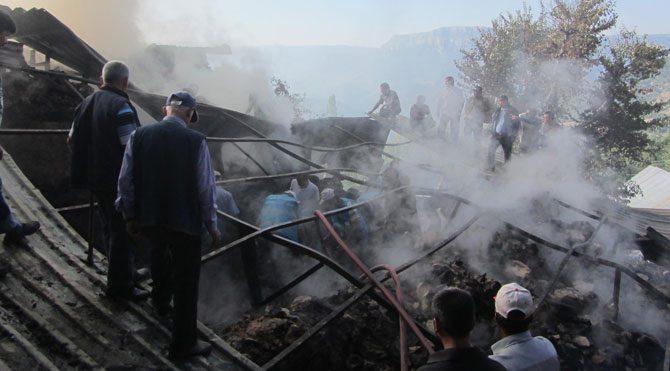 Ermenek'te yangın faciası