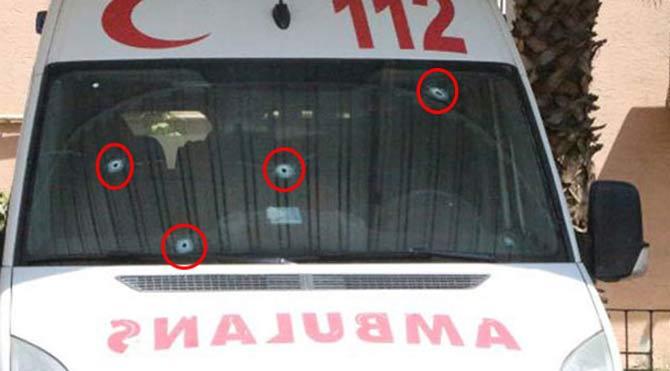 Ambulansları taradılar!