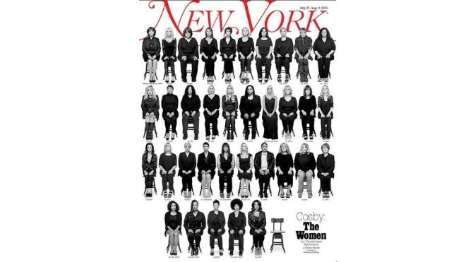 Bill Cosby'nin tacizine uğrayan 35 kadın aynı kapakta