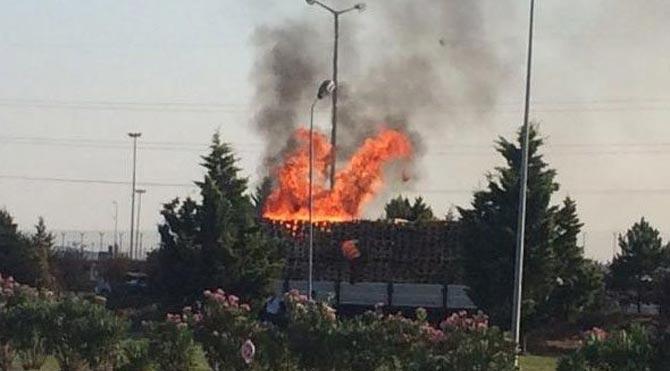 Mehmetçik Vakfı tesislerinde korkutan yangın