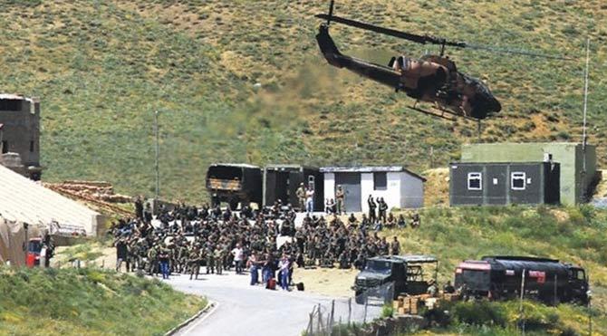 Dağlıca'ya havan saldırısı