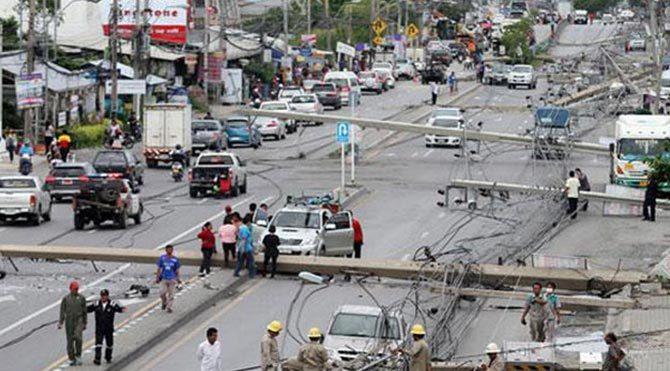 Tayland'da olaylı kaza