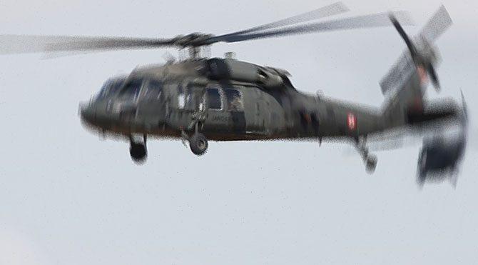 Beytüşşebap'ta askeri helikoptere saldırı