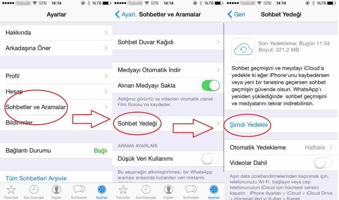 iphone whatsapp yazismalari