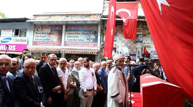 Erdoğan şehit cenazesinde