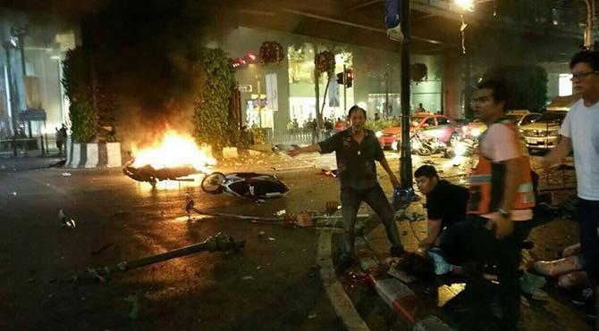 Tayland'ın başkenti Bangkok'ta patlama