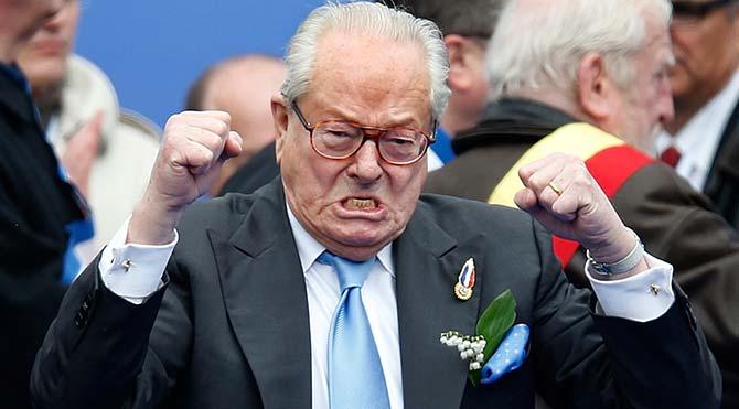 Baba Le Pen partiden ihraç edildi