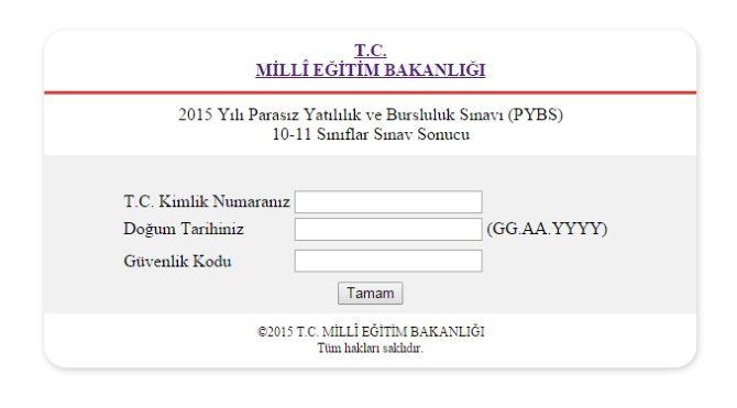 PYBS sonuçları ilan edildi! 10-11. sınıflar için PYBS sınav sonucu sorgulama sayfası!