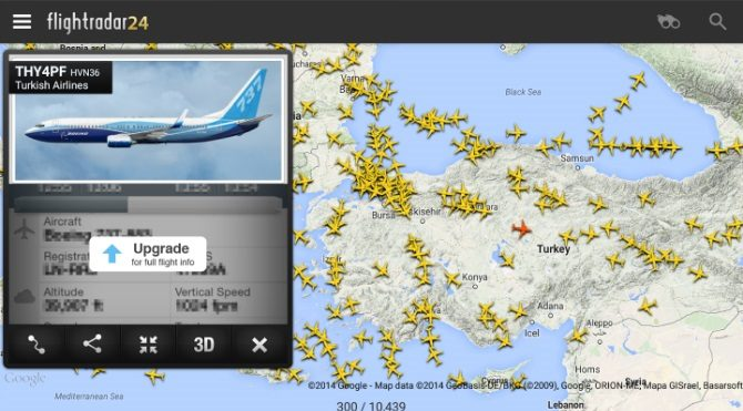 Android ve iOS için Canlı Uçak Takip Uygulaması