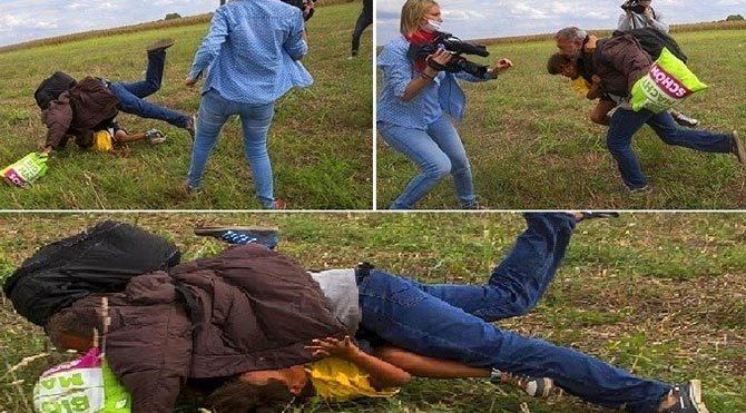 Sığınmacılara tekme atan kadın kameraman mahkemede yargılanacak