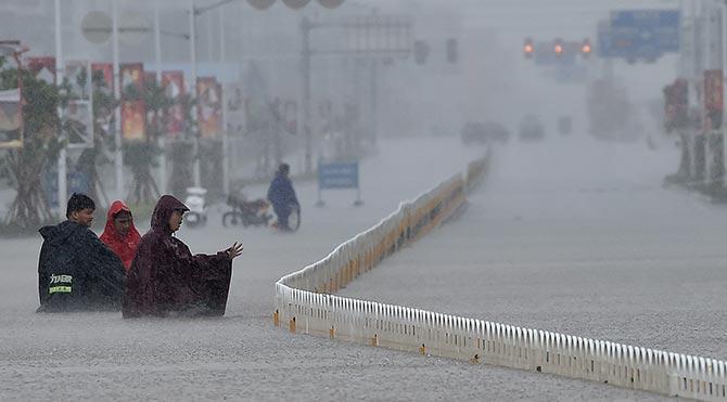 Çin'deki tayfunun bilançosu ağır oldu: En az 9 ölü, 168 yaralı