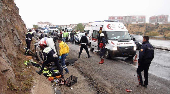 Trafik kazası çok ucuz atlatıldı!