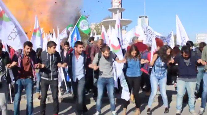 Ankara'daki patlama anı